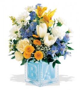 Flower gift for new born boy