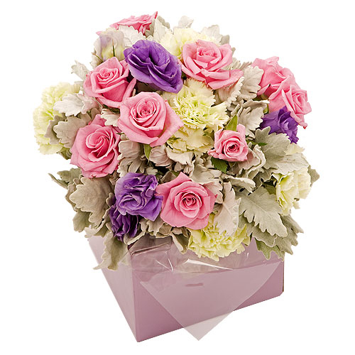 Pink flowers for new born girl