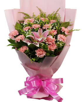 Pink flower gift for new born