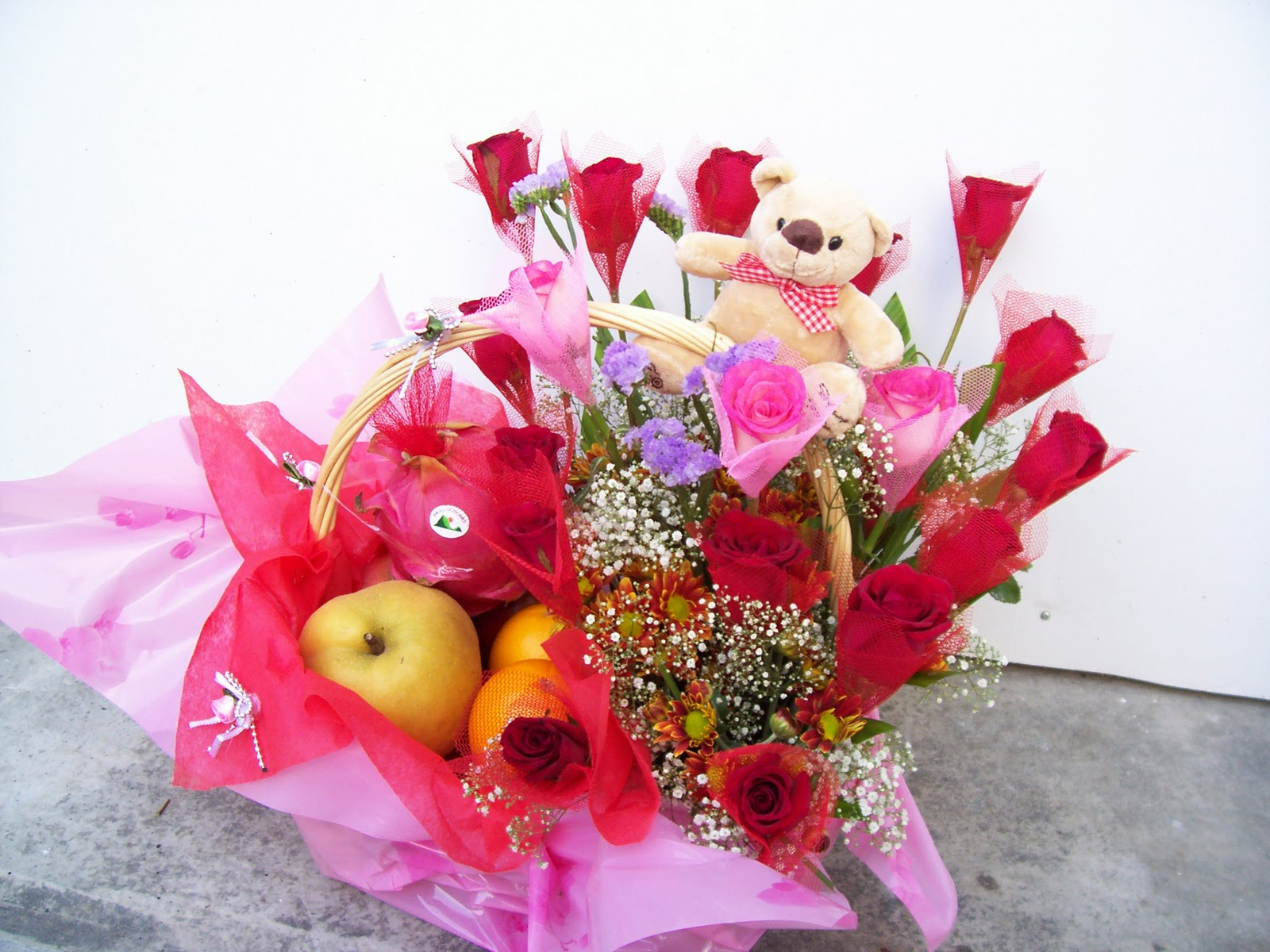 Pink flower gift